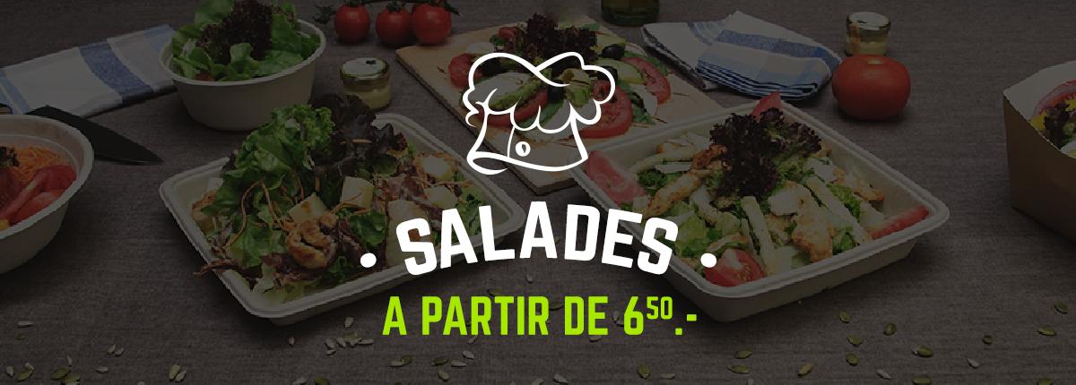 Salades en livraison à partir de 6,50